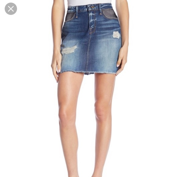 333d69f2ebf1 Good American Skirts | Fishnet Mini Denim Skirt | Poshmark